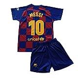 FCB Conjunto Camiseta y Pantalón Primera Equipación Infantil Messi del FC Barcelona Producto Oficial Licenciado Temporada 2019-2020 Color Azulgrana (Azulgrana, Talla 8)