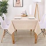 DJUX Simple y Moderno algodón y Lino Color Liso Rectangular Color sólido Mantel Anti-escaldado Mantel Impermeable Tela Mantel de Lino 90 * 90 cm