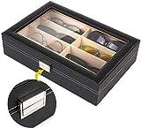 MVPower Caja para Gafas con 8 Estuches para Guardar y Almacenar Anteojos, Organizador y Soporte de Gafas de Sol, Regalo para la Navidad y el Año Nuevo