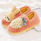 B/H Zapatos de casa cómodos y duraderos,Calzado de algodón con tacón Envuelto,cálido y Antideslizante,Zapatillas de Interior para Muebles para el hogar-Yellow_36-37,Zapatillas cómodas de Felpa