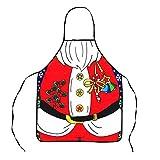 COMVIP Mujeres La Novedad del Partido Que Cocina el Delantal Santa decoración 58 * 72cm Rojo